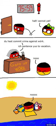 Countryball Germany faces hard times