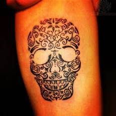 Sugar Skulls Tattoos For Girls