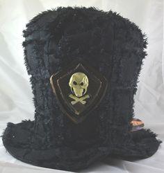 Cappello con teschio, conte dracula, zombie in tessuto. per travestimenti a tema Halloween o festa a tema pirati. Disponibile da C&C Creations Store
