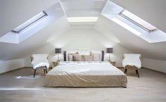 Zo richt je een (slaap)kamer met een schuine wand in - bouwenwonen.net