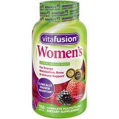 New Vitafusion Women's Multivitamin Gummy Vitamins 150 Count berry gummies USA Vitamin A, Multi Vitamin, Good Vitamins For Women, Daily Vitamins, Energy Vitamins, Best Multivitamin, Calcium Supplements, Antioxidant Vitamins, Bone Health