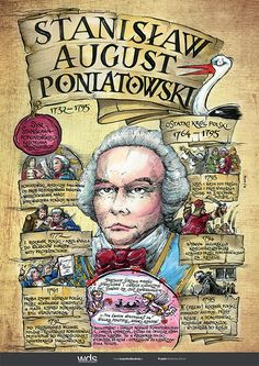 Stanisław August Poniatowski - Poczet królów polskich - PlanszeDydaktyczne.pl Poland History, Art History, Commonwealth, Learn Polish, Polish Language, Visit Poland, E Mc2, School Notes, Map