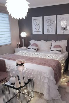 58 Popular and Modern Small Bedroom Design Ideas Part bedroom ideas; bedroom ideas for small room; Bedroom Decor For Teen Girls, Room Ideas Bedroom, Small Room Bedroom, Small Rooms, Nice Rooms, Teen Bedrooms, Master Bedrooms, Bed Room, Bedroom Furniture