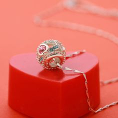 "Fits Pandora Bracelets: Jewelry T400 Jewelers 925 Sterling Silver Crystal "" Sweet Love"" Bead Charms"