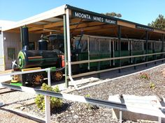 Train ready to take us round the Copper Mines at Moonta Mines Sept 14