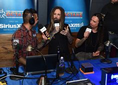 Radio personality Jose Mangin interviews Brian 'Head' Welch and James 'Munky' Shaffer of Korn a private concert for SiriusXM at The Theatre at Ace Hotel on October 21, 2016 in Los Angeles, California. The performance airs live on SiriusXM's Octane Channel.