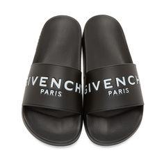 Givenchy Black Printed Slide Sandals