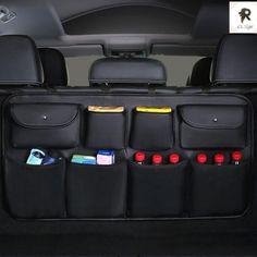 Car Rear Seat Back Storage Bag Multi-use Car Trunk Organizer Price: $ 16.84 & FREE Shipping #fashion Car Seat Organizer, Car Organizers, Online Organizer, Organiser, New Car Accessories, Leather Car Seats, Trunk Organization, Car Essentials, Car Trunk