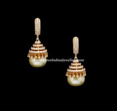 Pearl Drop Diamond Jhumka Design