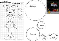 ARTESANATO COM QUIANE - Paps,Moldes,E.V.A,Feltro,Costuras,Fofuchas 3D: Molde Smilinguido de Feltro