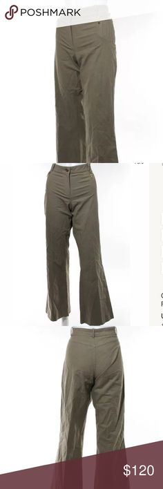 Celine cropped flare trousers Sz 10 taupe Taupe cropped flare high waisted trousers Celine Pants Ankle & Cropped