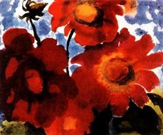 Red flowers by Emil Nolde Emil Nolde, Azul Anil, Degenerate Art, Tamara, Franz Marc, Religious Paintings, Edvard Munch, Plantation, Vincent Van Gogh
