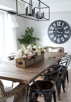 Gorgeous 95 Best Modern Farmhouse Dining Room Decor Ideas https://homeastern.com/2018/02/01/95-best-modern-farmhouse-dining-room-decor-ideas/