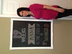 Pregnancy chalkboard  #namereveal #19weeks #chalkboard