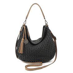 #SuriFrey #Tasche #geflochten #schwarz #MyNewBag Suri Frey, Crochet Bags, Muse, Baskets, Fashion Design, Black, Sacks, Bags, Breien