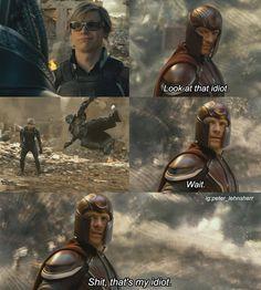 """Damn it Peter!"" - Magneto, everyday, probably. . . . . . #petermaximoff #pietromaximoff #quicksilver #evanpeters #sophieturner #tyesheridan #jeangrey #scottsummers #cyclops #darkphoenix #xmendofp #xmen #xmendarkphoenix #apocalypse #magneto #dadneto #marvel #eriklehnsherr #michaelfassbender #jamesmcavoy #charlesxavier #nightcrawler #nightsilver #nicholashoult #jlaw #mystique #cherik #logan #apocalypse #dofp"