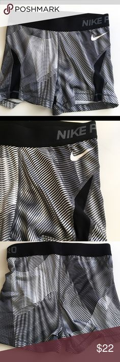 NIKE PRO SHORTS Nike Pro Shorts size small. Excellent condition. Black and white design. Shorts only Nike Shorts
