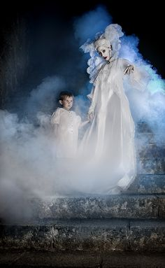 """Lucy has risen from her grave and has brought back a living child. The dead may lead the living into death, and the vampires in """"Dracula"""" seem to like to feed on children. They are blood thirsty revenants."""