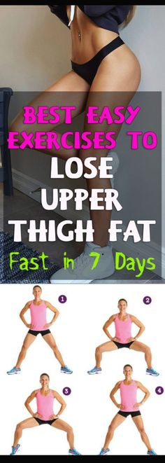 Best Exercises to Lose Upper Thigh Fat Fast in 7 Days #fitness #health #thigh #fat #beauty #bikini #losefat