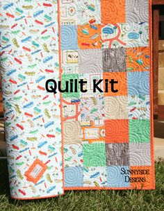 Pdf quilt pattern whimsy layer cake baby quilt and throw simple fast last one transportation quilt kit deena rutter riley blake fabrics boys cars scenic route vehicles diy do it yourself solutioingenieria Gallery