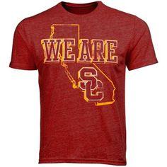 USC Trojans We Are SC Tr-Blend T-Shirt - Cardinal