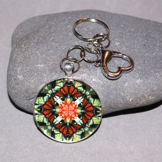 Keychain with a sacred geometry mandala Monarch Butterfly charm titled Beloved Psyche. <br /> <br />Carry your keys in style with a mandala sacred geometry key chain. Use the lobster clasp to hook on your belt loop or purse so you keys do not get lost and are easily at your reach! Styles for men and woman available! Custom request a design of you own%...