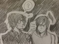 Quick doodle after my final. Jealous korro doesn't like isamu very much.