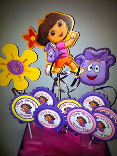 Dora the Explorer Birthday Party Dora Favor Pops by FromBeths, $20.25
