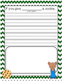 FREE! If you give a mouse a cookie writing activity!