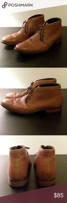 e04122110a5 Cole Haan Nike Air Pebble Grain Chukka Boots -Cole Haan leather upper with  a tan
