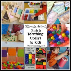 The Ultimate Activity Guide to Teaching Colors to Toddlers and Preschoolers, Kids - The Eyes of a Boy