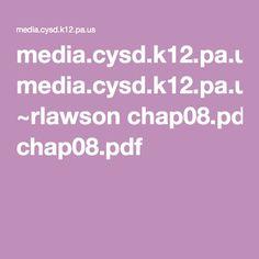 media.cysd.k12.pa.us ~rlawson chap08.pdf