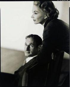June 16, 1917:    Legendary photographer Irving Penn   and wife, Lisa, by Horst P. Horst