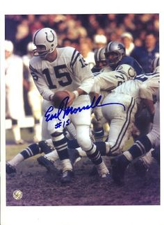Autographed Earl Morrall Baltimore Colts 8x10 Photo