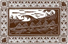 Racing Outriggers, print by Dietrich Varez. Features racing outrigger canoes among the ocean waves. Dimensions: x You can learn more about Dietrich Varez by visiting his bio page here. Hawaiian Legends, Hawaiian Art, Hawaiian Tattoo, Polynesian Art, Polynesian Culture, Polynesian Tattoos, Outrigger Canoe, Vintage Hawaii, Tropical Art