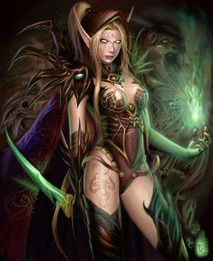 Blood Elf Warlock - World Of Warcraft