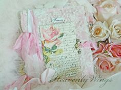Shabby Chic Home Decor Soft Pink Nursery Decor by HeavenlyWings, $25.00
