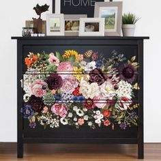 Goodwill Furniture, Furniture Board, Furniture Ideas, Floral Furniture, Painted Furniture, Painted Chest, Hand Painted, Shapes Images, Stencil Printing
