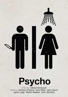 Pictogram Movie Posters: Psycho