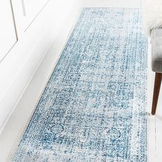 Unique Loom Brighton X Runner Rug In Light Blue - Traditional, meet trendy. For those not afraid of color, the space-dyed threads in this beige Bushwick Brighton square rug will brighten up any room with an edgy, vintage flair. Blue Bathroom Rugs, Bathroom Runner Rug, Gray Runner Rug, Long Runner Rugs, Blue Kitchen Accessories, Basement Living Rooms, Square Rugs, Floor Rugs, Area Rugs