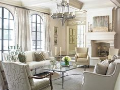 Neutral Living Room.  Emily Jenkins Followill Photography
