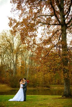 fall wedding couple's photo, outdoor ceremony, november wedding