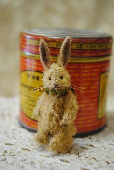 Tiny bunnyminiature teddy bear artist by Junko by JunJunLittleBear
