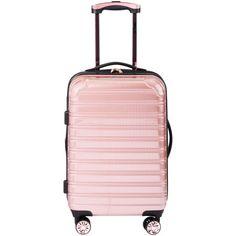 "iFLY Hard Sided Luggage Fibertech, 20"", Rose Gold Image 3 of 7"