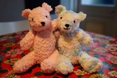 King Cole Cuddles teddy knitting pattern. Perfect gift to make for a baby.