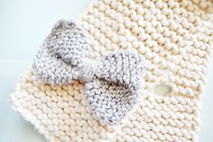 How To Knit A Bow Scarf