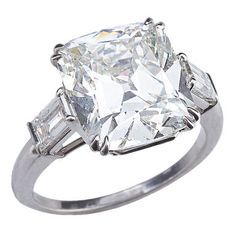 Brilliant Cushion Cut Diamond Ring thumbnail 1