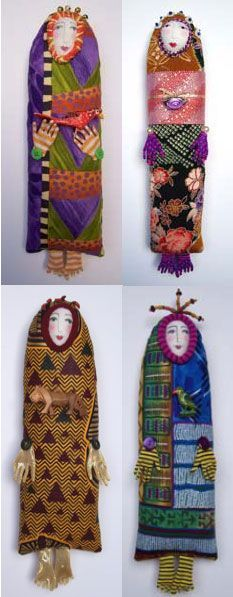 Whimsical woman bookmark by jennifergoulddesigns