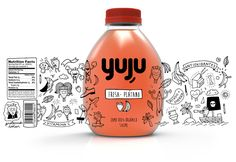 Yuju on packaging of the world creative package design gallery food and drink logo juice packaging yuju food and drink logo juice packaging rino children s juice packaging design Juice Packaging, Food Packaging Design, Coffee Packaging, Beverage Packaging, Bottle Packaging, Packaging Design Inspiration, Brand Packaging, Branding Design, Packaging Ideas