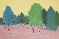Milton Avery (American, 1885-1965), Dancing Trees, 1953. Oil on canvas, 32 x 48 in.